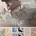Hand-tufted Paisley Floral  Wool Area Rug (8' x 11' )