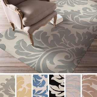 Hand-tufted Paisley Floral Wool Area Rug (4' x 6')