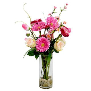 Christopher Knight Home 26-inch Shades of pink mixed flower arrangem