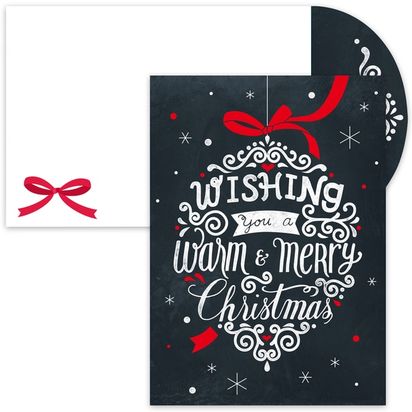 Chalkboard Ornament Boxed Holiday Cards