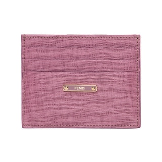 Fendi 'Crayons' Lilac Leather Card Case