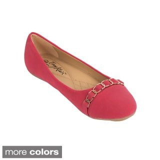 Womens Multi-buckle Ballerina Flats