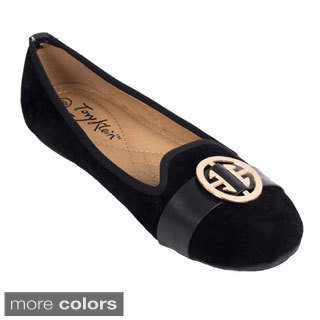 Women's Buckled Medallion Ballerina Flats