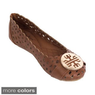 Women's Cut-out Medallion Ballet Flats