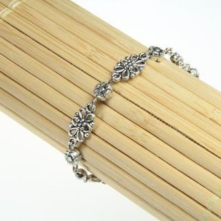 Handmade Tibetan Silver Filigree Flower Bracelet (China)