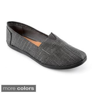 Corkys Women's 'Beach' Metallic Woven Canvas Shoes
