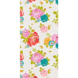 Wrap It Up Paper Roll-Newsprint Floral 18inX144in