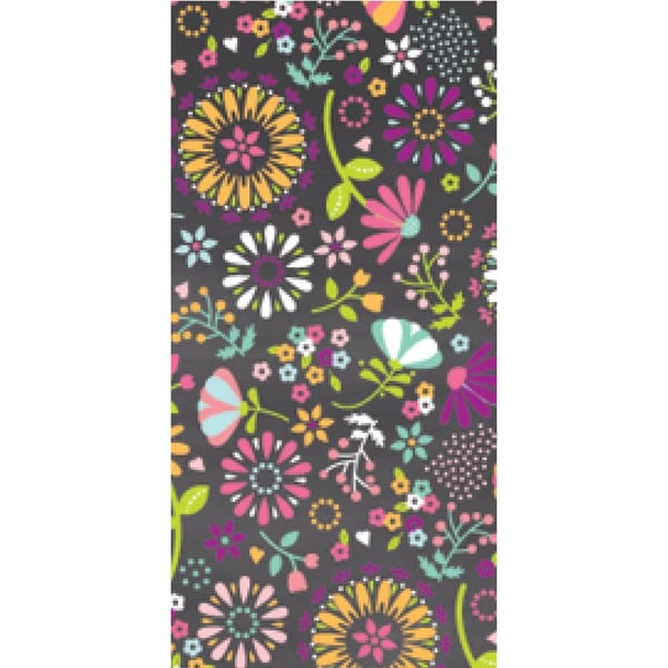 Wrap It Up Paper Roll-Statement Floral 18inX48in 3/Pkg