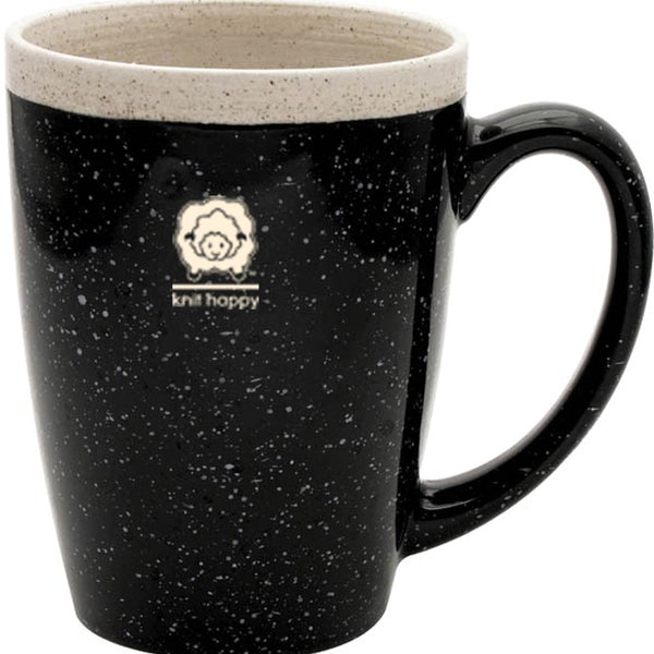 Knit Happy Retreat Mug 16oz-Black