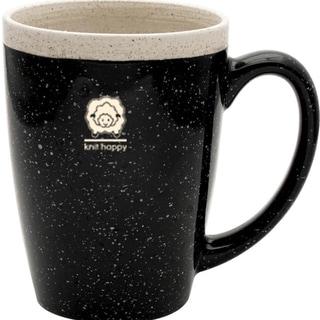 Knit Happy Retreat Mug 16oz-Black
