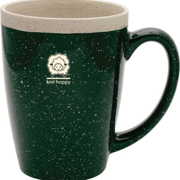 Knit Happy Retreat Mug 16oz-Green