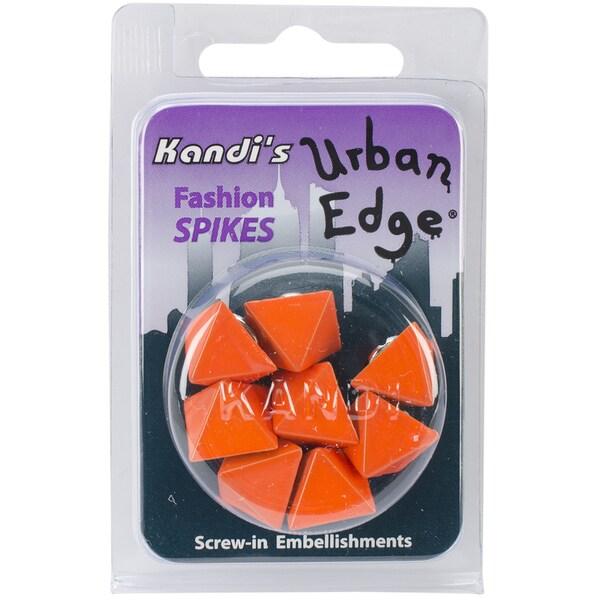 Urban Edge Pyramid Screwback Spike 13mmx9mm 8/Pkg-Orange Orange