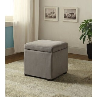 Linon Judith Ottoman with Jewelry Storage