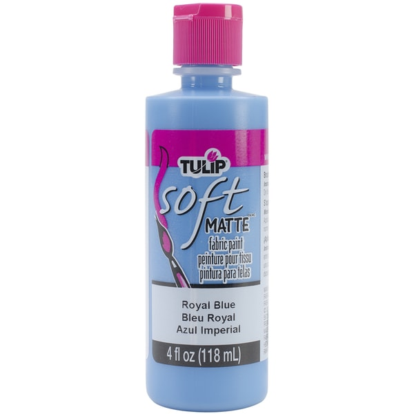 Tulip Soft Fabric Paint 4oz-Royal Blue Matte