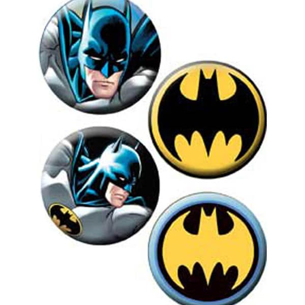 Button Set 4pc-Batman