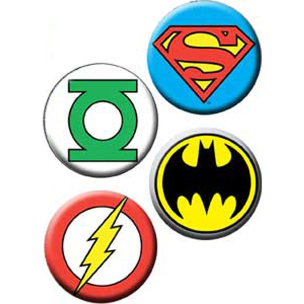 Button Set 4pc-DC Logo