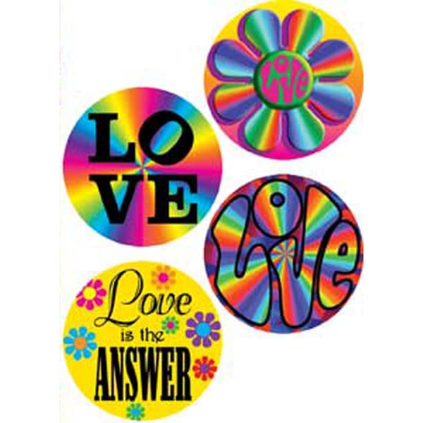 Button Set 4pc-Love