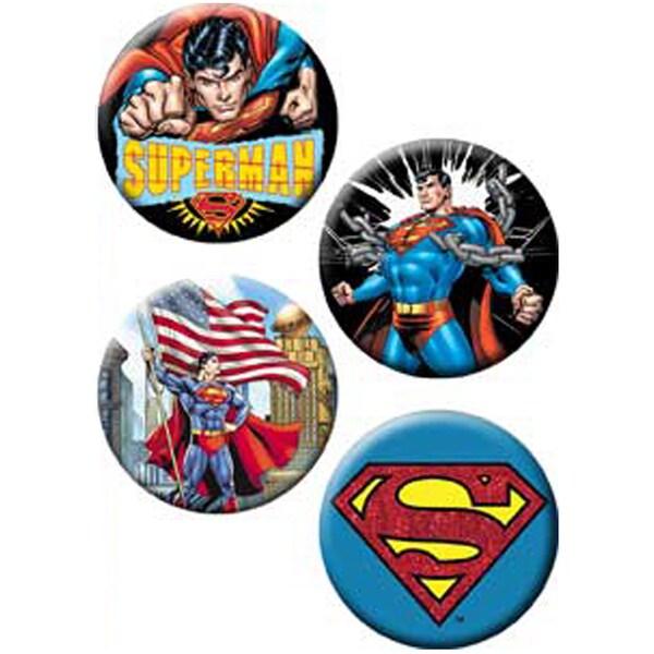 Button Set 4pc-Superman