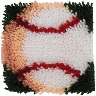 Wonderart Latch Hook Kit 8inX8in-Baseball