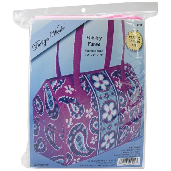 Paisley Purse Plastic Canvas Kit-12inX6inX10in