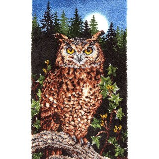 Wonderart Classic Latch Hook Kit 30inX50in-Majestic Owl