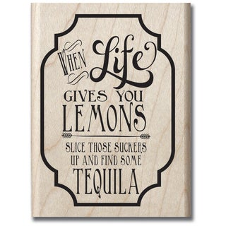 Laugh Out Loud Mounted Rubber Stamp 2.5inX3.5in-Lemons & Tequila