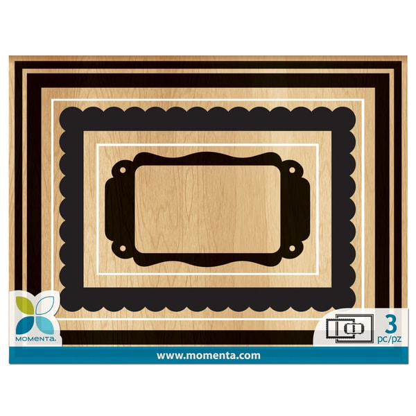 Momenta Mounted Stamp Set 3pcs-Frames
