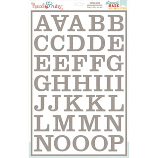 Stencil Mask Peel Away Alphabet 12inX18in Sheets 2/Pkg-Boutique, 2in Letters