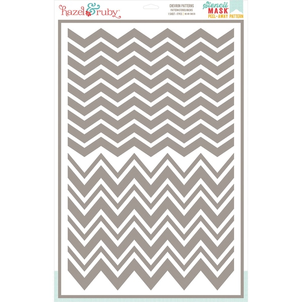 Stencil Mask Peel Away Pattern 12inX18in Sheet-Chevron