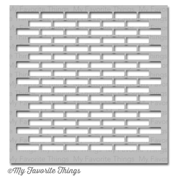 My Favorite Things MIX-ables Stencil 6inx6in-Small Brick Wall