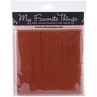 My Favorite Things Background Cling Rubber Stamp 6inX6in-Wood Plank