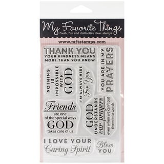 My Favorite Things Lisa Johnson Designs Stamps 4inX6in Sheet-Words Of Inspiration