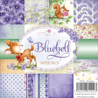 Wild Rose Studio Ltd. Paper Pack 6inX6in 36/Pkg-Bluebell