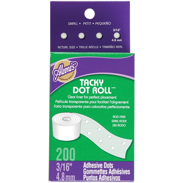 Aleene's Tacky Dot Roll 3/16in 200/Pkg