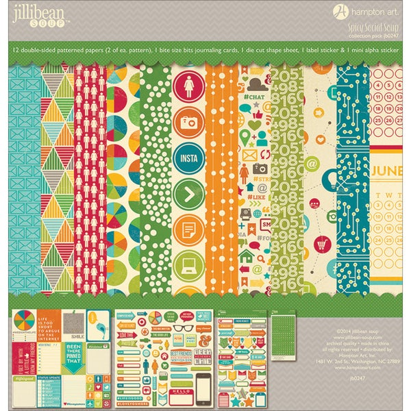 Jillibean Soup Collection Kit 12inX12in-Spicy Social Soup