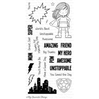 My Favorite Things Birdie Brown Stamps 4inX8in Sheet-You're Super