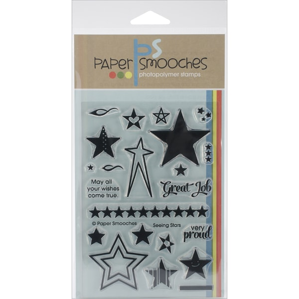 Paper Smooches 4inX6in Clear Stamps-Seeing Stars