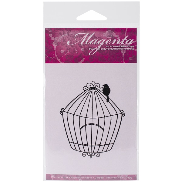 Magenta Cling Stamps 3.25inX2.75in-Large Bird Cage