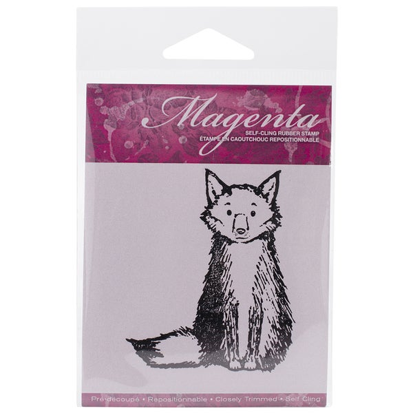 Magenta Cling Stamps 3inX2.5in-Large Fox
