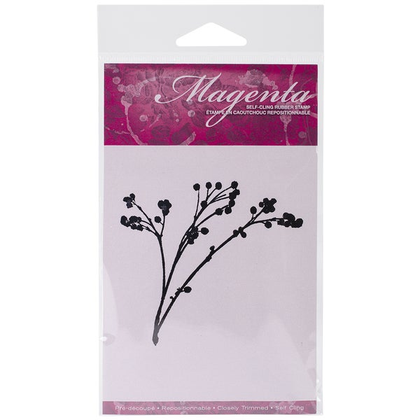 Magenta Cling Stamps 3inX3.25in-Thistle