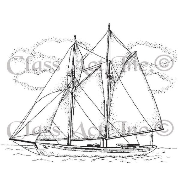 Class Act Cling Mounted Rubber Stamp 2.75inX3.75in-Small Ship