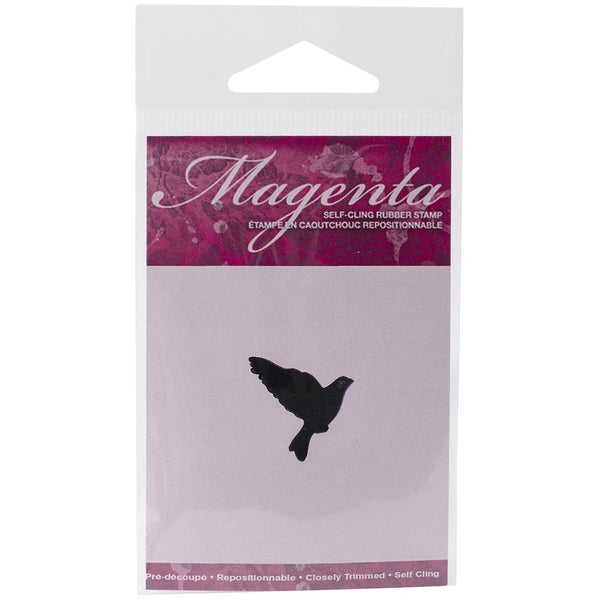 Magenta Cling Stamps 1inX1.25in-Flying Bird 1