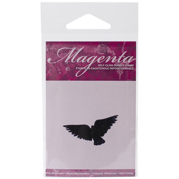 Magenta Cling Stamps 1inX1.75in-Flying Bird 2