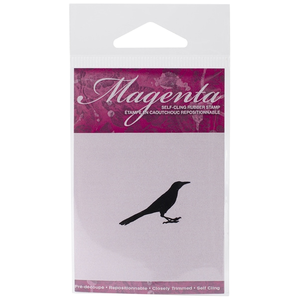 Magenta Cling Stamps 1inX1.25in-Great-Tailed Grackle