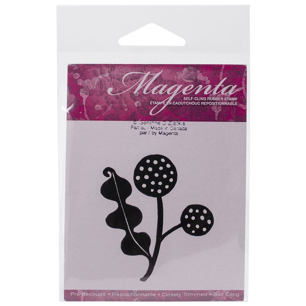 Magenta Cling Stamps 2.5inX2.25in-Pompons