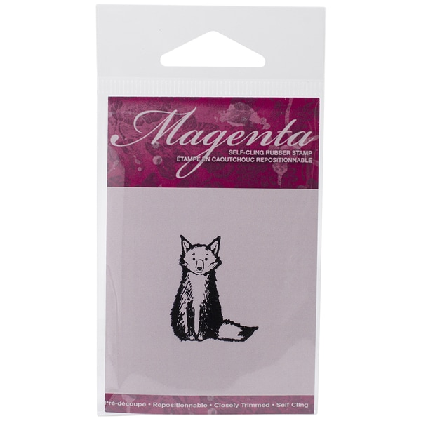 Magenta Cling Stamps 1.25inX1.5in-Small Fox