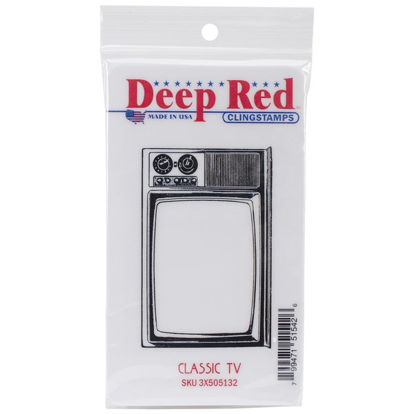 Deep Red Cling Stamp 3.5inX2in-Classic TV
