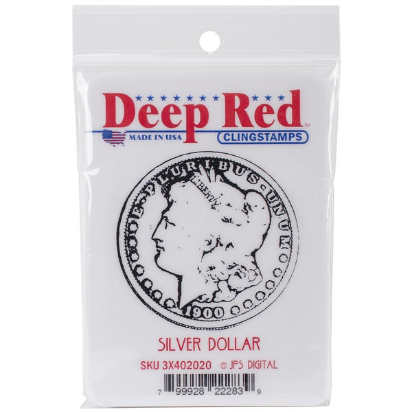 Deep Red Cling Stamp 2inX2in-Silver Dollar