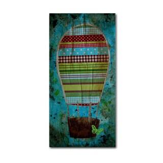 Nicole Dietz 'Hot Air Balloon Butterfly' Canvas Art