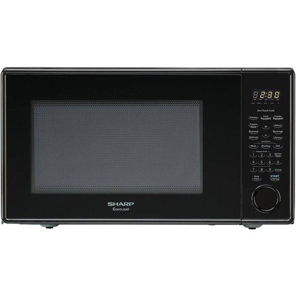 Sharp Black Countertop Microwave Oven